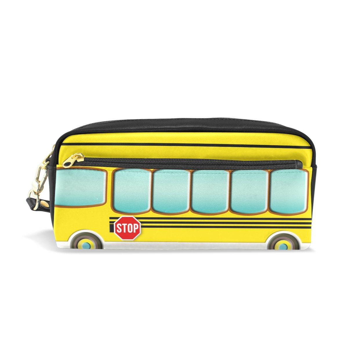 ZOEO Kids Pencil Case Yellow School Student Bus Cosmetic Makeup Bag Zipper Pen Pouch Holder for School Boys Girls by ZOEO