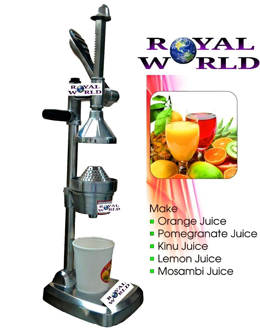 Royal World Aluminium Hand Press Juicer (Silver)