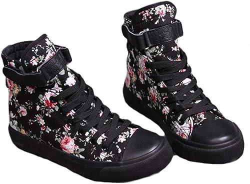 Bestmood Women's Sneakers, Floral