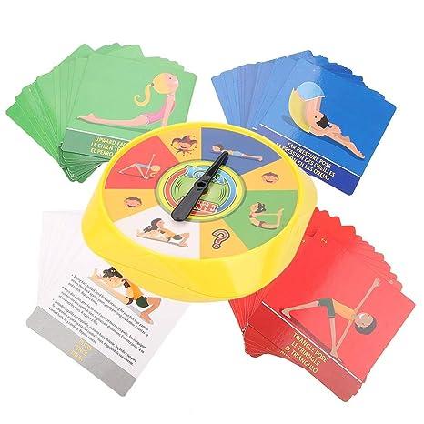 Tarjetas de Juego de Pose de Yoga Flexibilidad Interactiva Mesa de Ejercicios Juguete Padres Niños Niños Educación Temprana Tarjetas de Juego de Pose ...