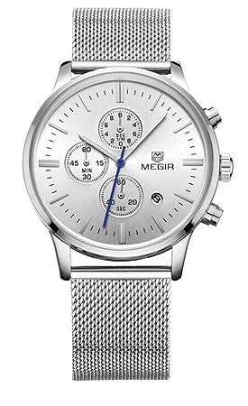 North King Relojes de Relojes Bonitos Cuarzo Reloj Multi Funcional Impermeable de Hombres Relojes Pantalla Fecha