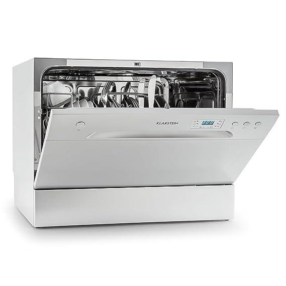 Klarstein Amazonia 6 lavavajillas A+ (1.380 W, 6 cubiertos, 6 programas de limpieza, 49 dB, función Aquastop, cesto para cubiertos y bandeja ...
