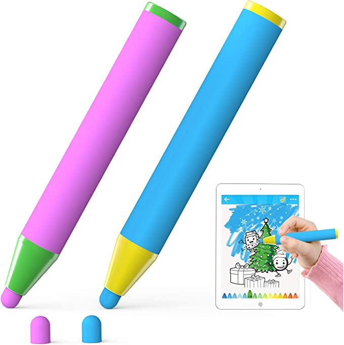 DURAGADGET Kids Red Crayon Style Touchscreen Stylus Pen with Neck Strap /& Cute Duck Cap Compatible with LG P780