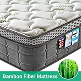 Lv. life King Size 4D Bamboo Fiber Mattress,5FT King Pocket Springs and Memory Foam - 9-Zone Orthopaedic Mattress