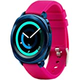Tkasing For Sumsung Gear Sport Band/Gear S2 Classic Bands/Huawei Watch 2/Garmin Vivoactive 3-20mm Silicone Watch Band Replacement Strap Fitness Wristband for Samsung Gear Sport Women Men