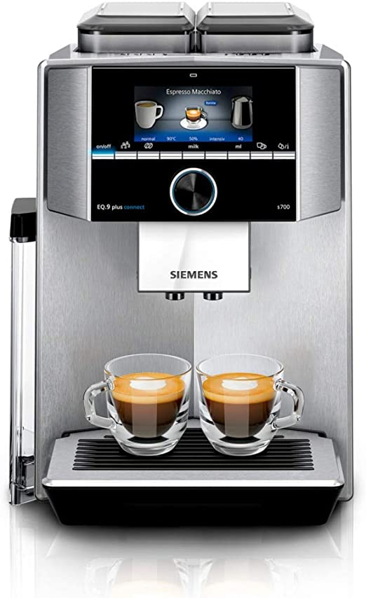 Siemens TI9575X1DE Cafetera automática, 1500 W, 2.3 litros, acero ...