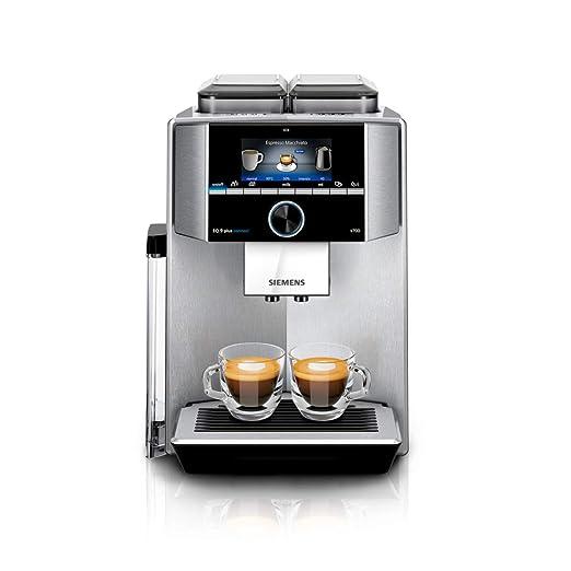 Siemens EQ.9 TI9575X1DE - Cafetera (Independiente, Máquina espresso, 2,3 L, Molinillo integrado, 1500 W, Acero inoxidable)