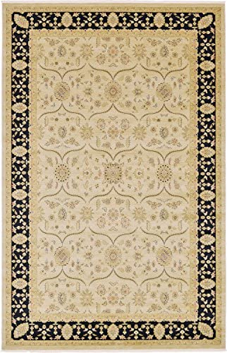 Unique Loom Edinburgh Collection Oriental Traditional French Country Beige Area Rug 10' 6 x 16' 5
