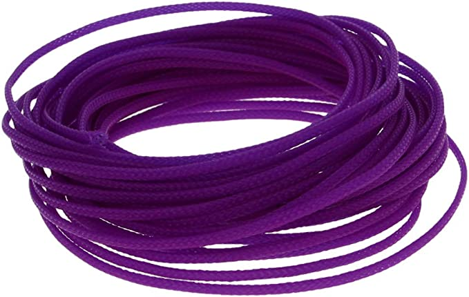 8mm Purple Expandable Braid DENSE Speaker Audio Cable Sleeve Cover 1m