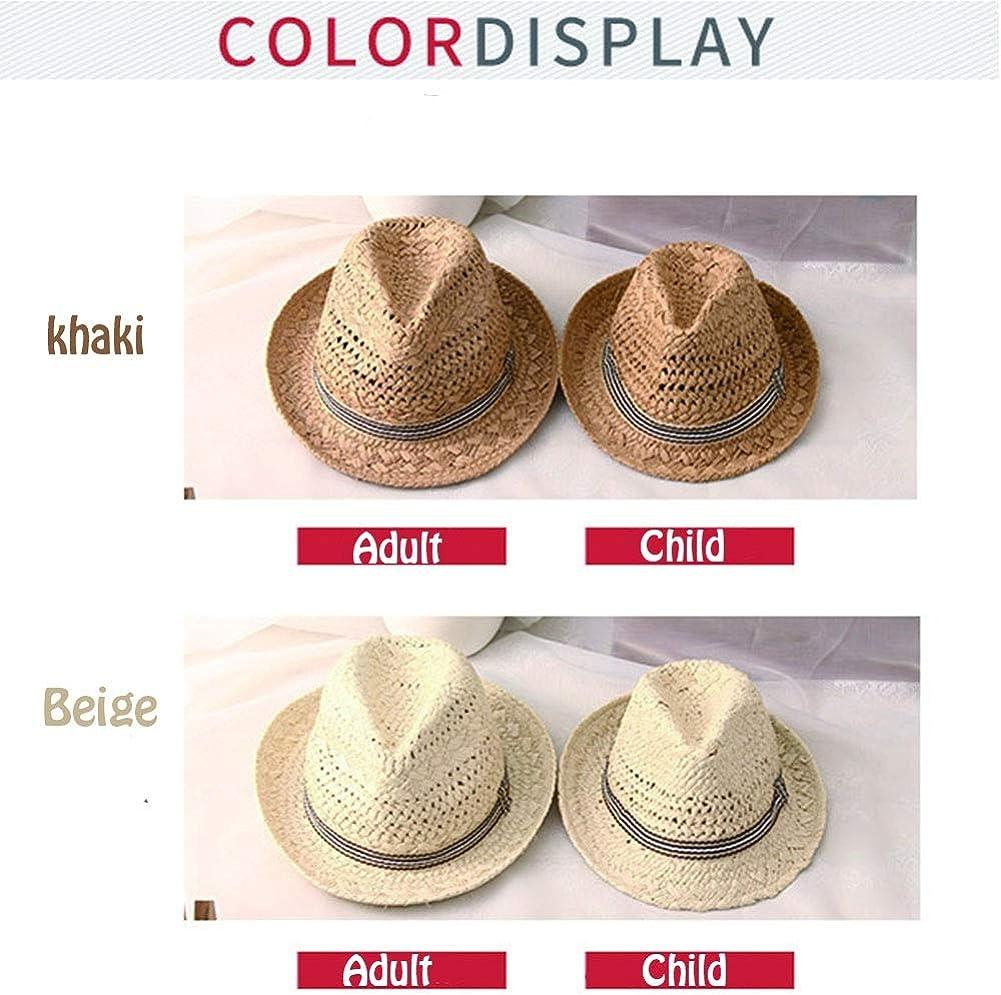 Sun Hat Uv Protection Parent-child Jazz Hat Outdoor Travel Adjustable Straw Hat
