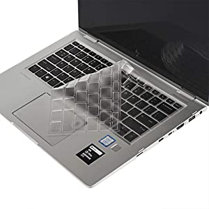 """imComor Ultra Thin Keyboard Cover for HP Elitebook X360 1030 G2 13.3"""", HP Elitebook X360 1020 G2 12.5"""" Soft Clear TPU Keyboard Cover Protector Keyboard Skin, US Layout"""