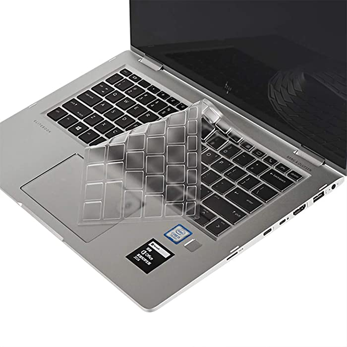 "imComor Ultra Thin Keyboard Cover for HP Elitebook X360 1030 G2 13.3"", HP Elitebook X360 1020 G2 12.5"" Soft Clear TPU Keyboard Cover Protector Keyboard Skin, US Layout"