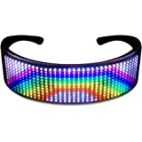 LED Glassses, Customizable LED Glowing Glasses with Bluetooth for Raves, Birthday, Bar, Celebration, Light up Glasses…