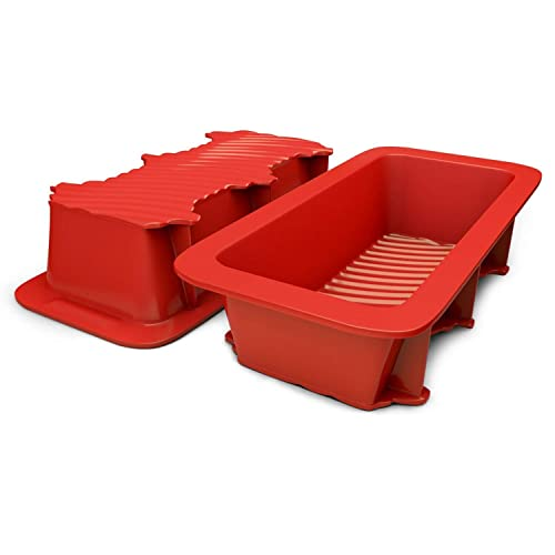 Silicone Designs Bread and Loaf Pan Set of 2 Red