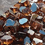 Blue Ridge Brand™ Copper Reflective Fire Glass - 50-Pound Professional Grade Fire Pit Glass - 1/2'' Reflective Fire Pit Glass Bulk Contractor Pack