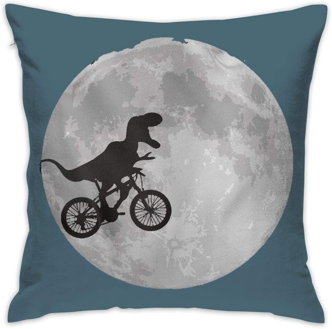 Crazy Popo Rex Bicycle Moon Dinosaur Decorative Throw Pillow Covers Euro Sham Cushion Sham Square Cushion Case Pillowcases For Living Room Sofa Bedroom Car 18 X 18 Inch 45 X 45 Cm Amazon Co Uk Kitchen