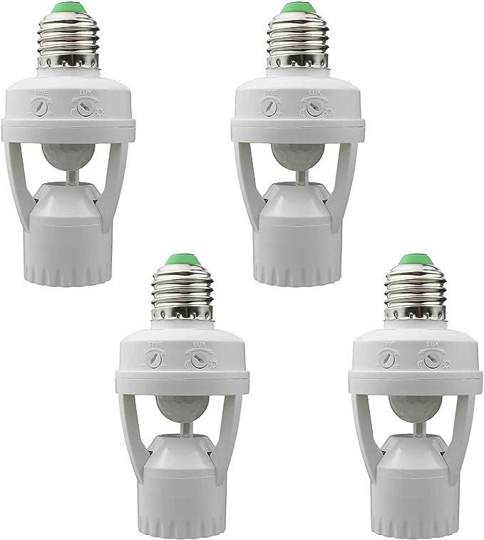 E27 Infrared PIR Motion Sensor LED Light Lamp Bulb Socket M0D0 Y2T3 Hold D3K5