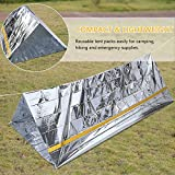 Emergency Mylar Shelter Thermal Reflective Tube Tent Cold Weather Rescue Blanket