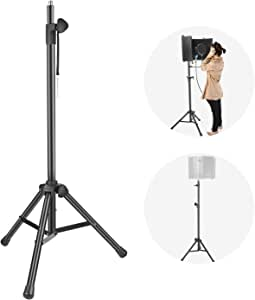 Neewer NW002-1 Wind Screen Bracket Stand with Aluminum Tube, Non-Slip Feet, Adjustable Height, 65.2 inches/ 165.5 Centimeters Stand Suitable for Supporting Acoustic Isolation Shield in Studio (Black)