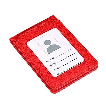 Funda de piel sintética para tarjeta de identificación, con ...