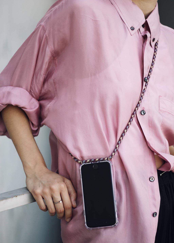 Hecho a Mano en Berlin Case KNOK Funda Colgante movil con Cuerda para Colgar iPhone XR Carcasa de m/óvil iPhone Samsung Huawei con Correa Colgante con Cordon para Llevar en el Cuello