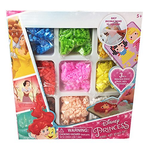 Disney Princess Pixel Art Beads Crafts Fusion Set (2400+ - Disney Iron Princess