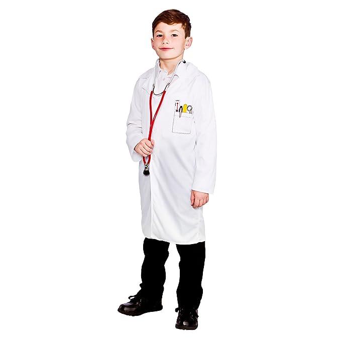 Disfraces malvados - Bata párrafo disfraz médico para niño - 134-146cm: Amazon.es: Ropa y accesorios