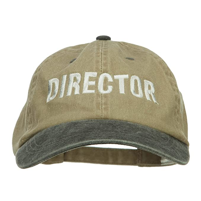 5961ee106c4 E4hats Movie Director Embroidered Washed Two Tone Cap - Beige Brown OSFM at  Amazon Men s Clothing store