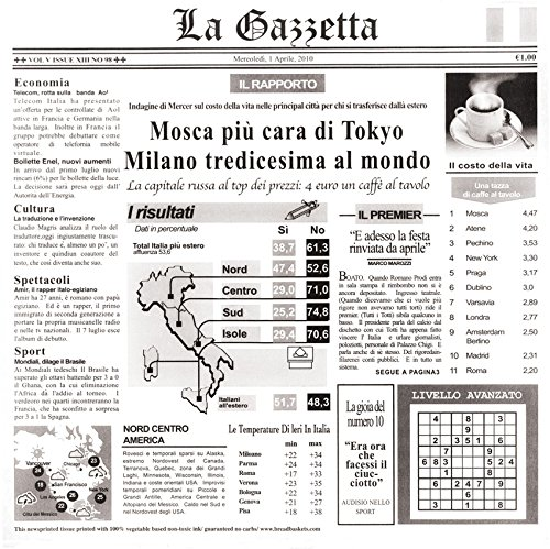 12'' x 12'' White Food-Safe Italian Newsprint Liner, by GET 4-TI1808 (Pack of 1000)