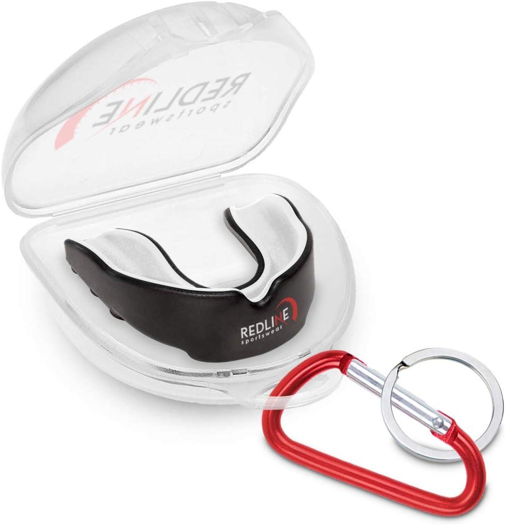 Redline Sportswear - Redline Sport Custom Fit Mouthguard w/Case Ventilé - Protection pour Tous Les Sports de Contact -