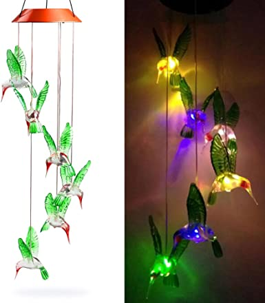 Efanty Balizas Solares Colibrí 1 led Multicolor para Exterior, Jardín,Fiesta, Boda, Guirnalda, Decoración del árbol de Navidad: Amazon.es: Iluminación