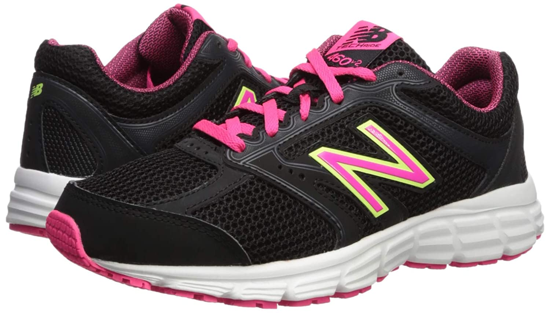 New Balance Women's 460v2 Cushioning Running Shoe, BlackPink, 6.5 D US