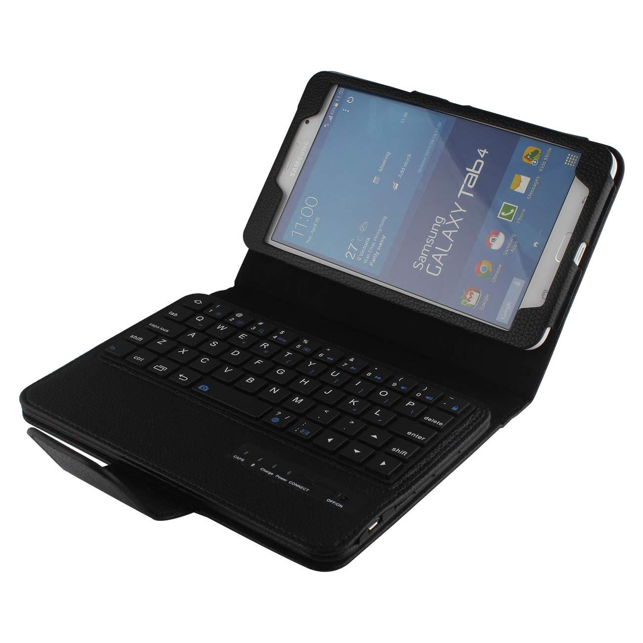 Samsung Galaxy Tab 4 7 0 Leather Keyboard Folio Case, Galaxy Tab 4 7 0 PU  Leather Cover, Wireless Bluetooth Keyboard for 7 0'' Samsung Galaxy Tab 4