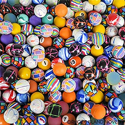 Rhode Island Novelty 27mm Assorted Bounce Balls, 250 Count: Toys & Games
