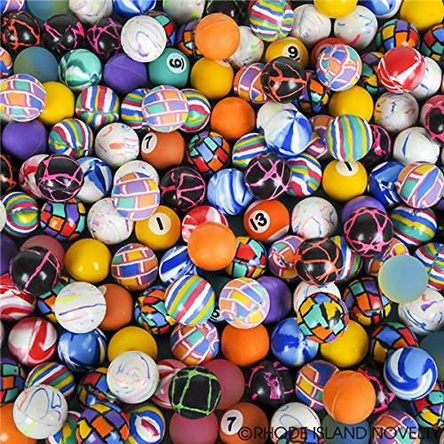 Bounce Balls Party Favors - Rhode Island Novelty 27mm Assorted Super Bouncy Balls | 250 Count