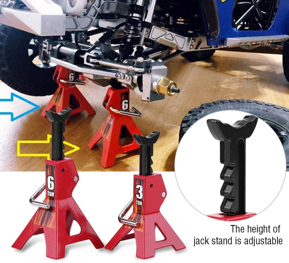 9Pcs Metal 6 Ton 3 Ton Simulation Jack Stands Nannday Simulation RC Jack Stands