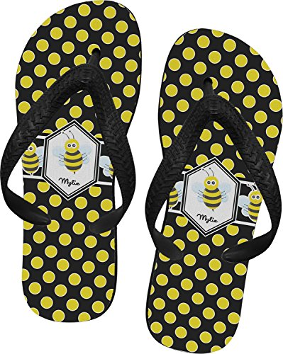 bee-polka-dots-flip-flops-small-personalized
