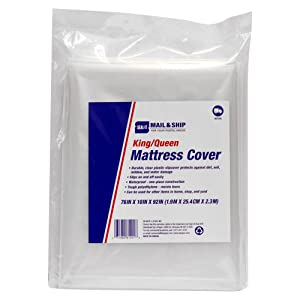 Seal-It Mail & Ship King/Queen Mattress Cover, 76 x 10 x 92 Inches, for Moving and Storage