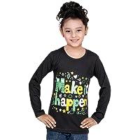 IndiWeaves Girls Cotton Full Sleeve Printed T-Shirt