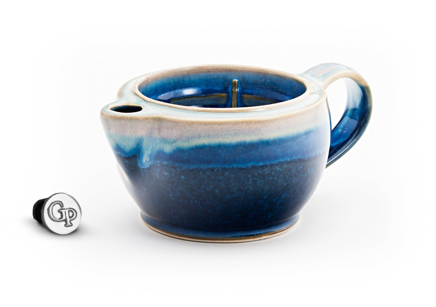 Georgetown Pottery G12 Shaving Scuttle Mug - Cobalt & Purple by Georgetown Pottery