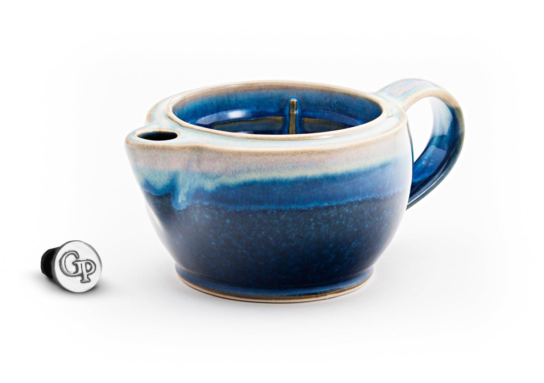 Georgetown Pottery G12 Shaving Scuttle Mug - Cobalt & Purple