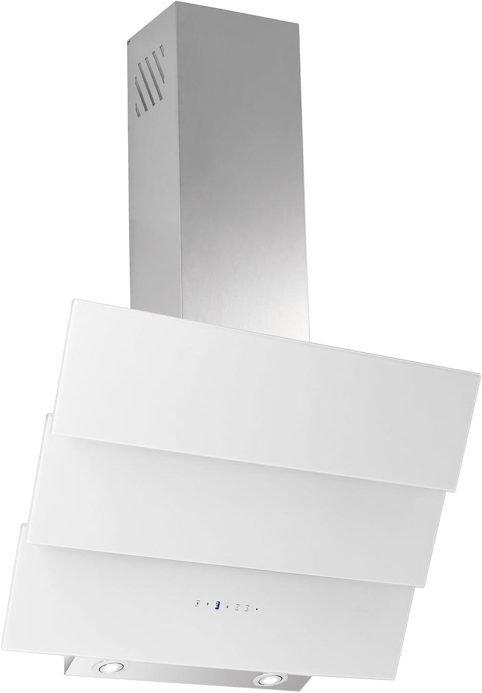 Campana extractora libre de cabeza Thuja Blanco Cristal Acero Inoxidable 60 cm: Amazon.es: Grandes electrodomésticos