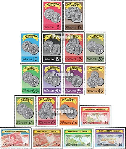 St. Vincent 1072A-1089A (Complete.Issue.) 1987 Eastern Caribbean Respect (Stamps for Collectors) Coin on Stamp