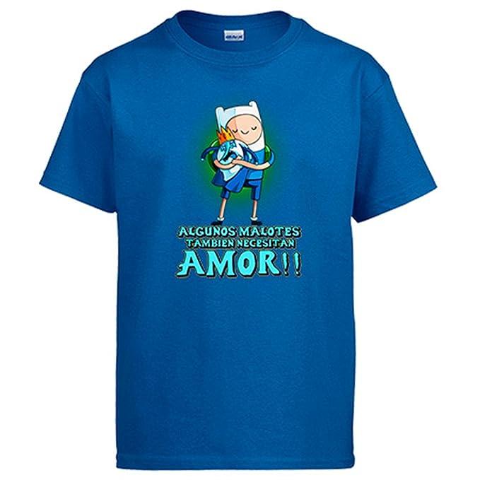 Diver Camisetas Camiseta Hora de Aventuras Finn Algunos malotes También Necesitan Amor San Valentín: Amazon.es: Ropa y accesorios