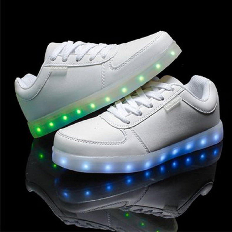 [Presente:pequeña toalla]c10 EU 26, Zapatillas manera con Hombre LED Recargable Luz JUNGLEST®