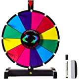 Voilamart 12' Tabletop Spinning Prize Wheel, Spin The Wheel Dry Erase, 12 Slots with Durable Plastic Base, 2 Pointer…