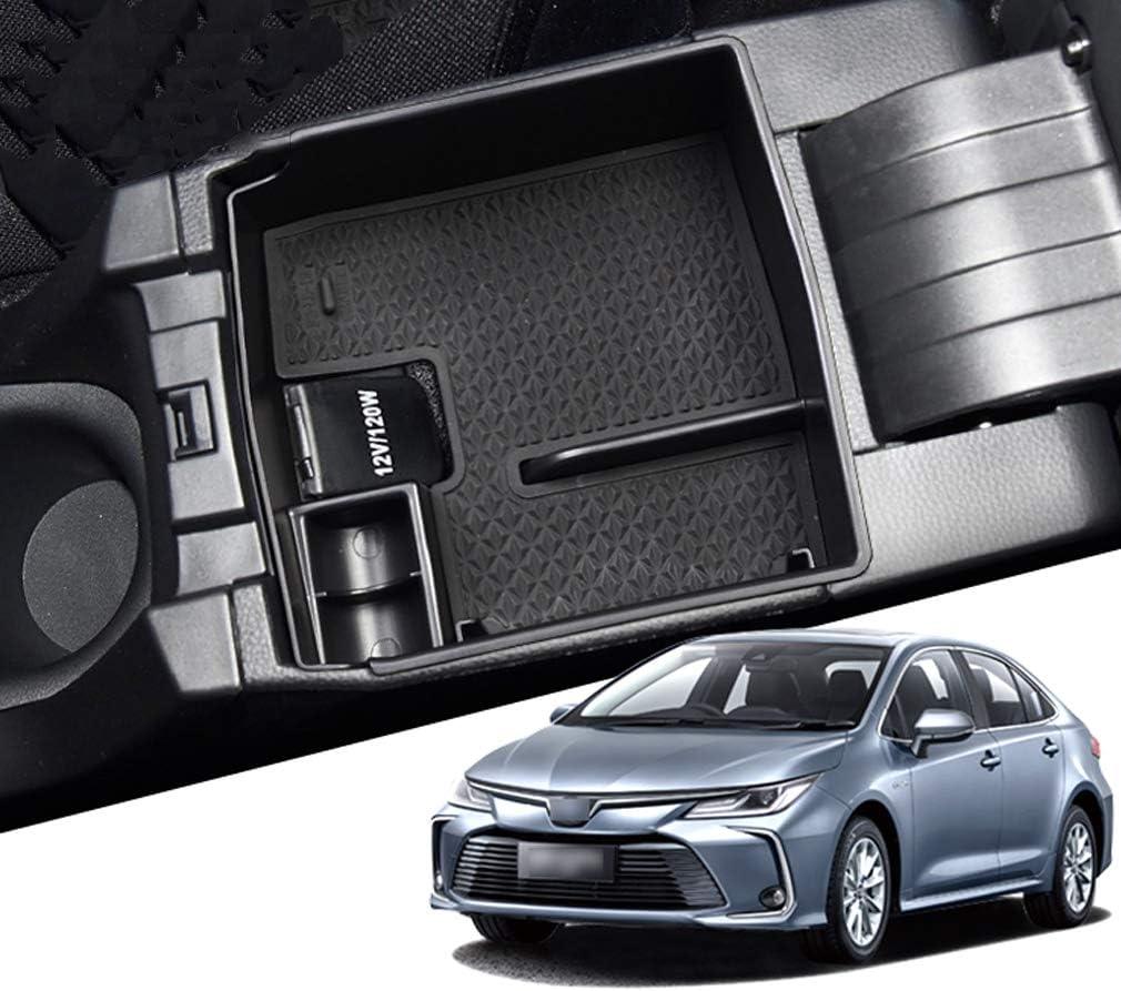 Int/érieur de Voiture Console Accoudoir Central Bo/îte de Rangement Accessoires pour Toyota Corolla 2019 2020