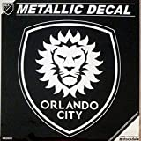 Orlando City SC Lions 6'' Silver Metallic Mirrored Style Vinyl Auto Decal MLS Soccer Football Club