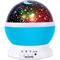 Moredig Projection Light Night Lighting Lamp Star Projector lamp with 8 Multicolor 360°Rotation with 2 meters USB Cable, Blue