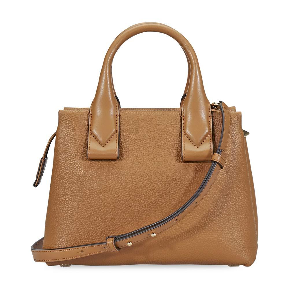 93ea8f8c8a7 MICHAEL Michael Kors Rollins Small Leather Satchel Bag, Color 203 Acorn   Handbags  Amazon.com